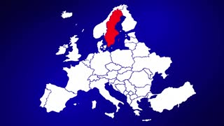 Sweden Europe Country Nation Map Zoom In Close Up Geography