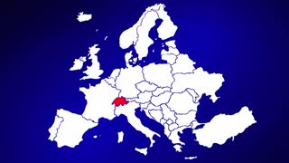 Switzerland Europe Country Nation Map Zoom In Close Up Geography