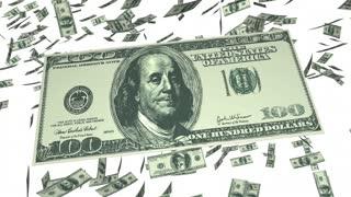Tax Break Loophole Money Falling 3 D Animation