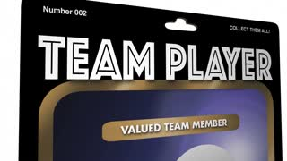 Team Player Cooperate Collaborate Action Figure 3 D Animation