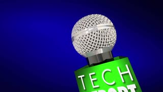 Tech Report New Innovation Product Update Technology Microphone 3d Animation