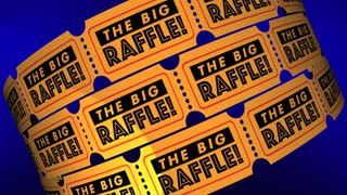 The Big Raffle Contest Win Prize Get Tickets 3 D Animation