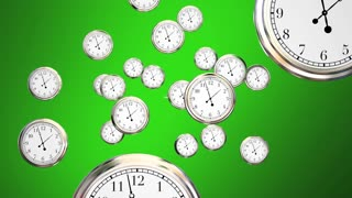 The Time is Now Clocks Urgent Call to Action 3d Animation