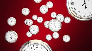 Time For Action Clocks Act Now Reminder 3 D Animation