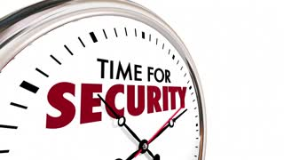 Time For Security Safety Protection Clock 3 D Animation
