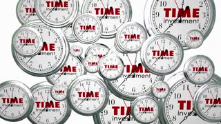 Time Investment Time Flying Clocks Animated Video