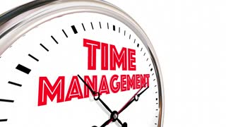 Time Management Efficient Clock Managing Projects 3 D Animation
