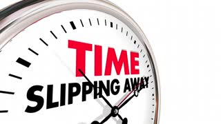 Time Slipping Away Passing Clock Words 3d Animation