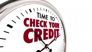 Time to Check Your Credit Score Report Clock 3d Animation