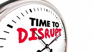Time to Disrupt Clock Upset Status Quo 3d Animation