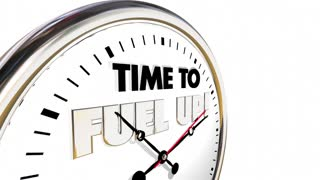 Time to Fuel Up Energize Clock Nutrition Eat 3d Animation