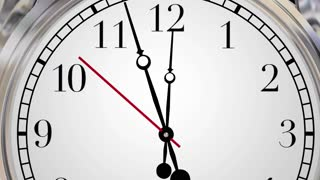 Time to Grow Clocks Expand Improve Increase Words 3d Animation