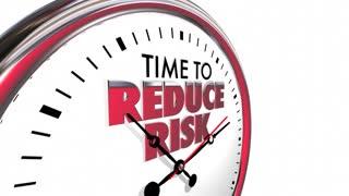 Time to Reduce Risk Clock Mitigation Danger 3d Animation