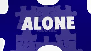 Together Vs Alone Puzzle Piece Working With Each Other 3 D Animation