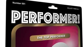 Top Performer Action Figure Best Worker Player 3 D Animation