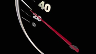 Top Speed Fast Response Service Speedometer Words 3d Animation