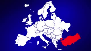 Turkey Europe Country Nation Map Zoom In Close Up Geography