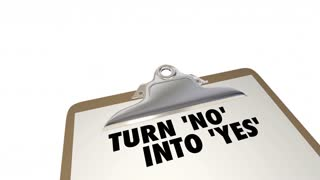 Turn No Into Yes Overcome Objection Checklist 3d Animation