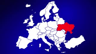 Ukraine Europe Country Nation Map Zoom In Close Up Geography