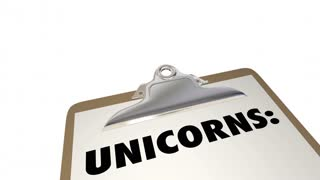 Unicorns New Business Success CEOs Leaders Startups 3d Animation