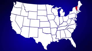 Vermont VT United States of America 3d Animated State Map