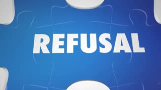 Acceptance Vs Refusal Approved Approval Puzzle Words 3 D Animation