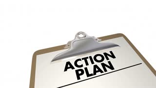 Action Plan Clipboard Checklist Strategy Tactics 3 D Animation
