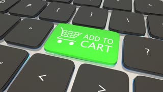 Add To Cart Online Shopping Computer Keyboard 3 D Animation