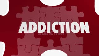 Addiction Recovery Kick Habit Puzzle Words 3 D Animation