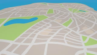 Advertise Pins On Map Marketing Promotion 3 D Animation