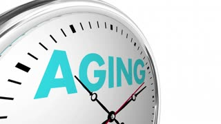 Aging Time Passing Getting Older Age Clock Words 3 D Animation