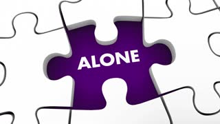 Alone Vs Together Collaboration Partnership Group Team Puzzle 3 D Animation