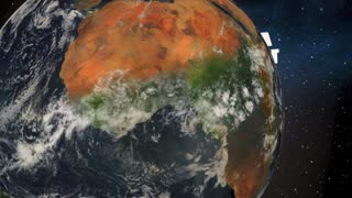 Around The World Global Coverage Entire Planet Earth 3 D Animation
