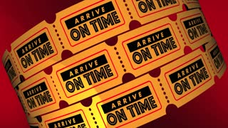 Arrive On Time Appointment Reminder Tickets 3 D Animation