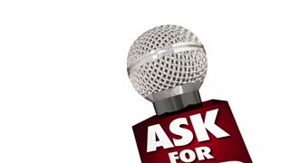 Ask For Help Get Advice Assistance Support Service Microphone 3 D Animation
