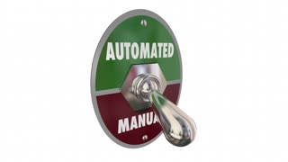 Automated Vs Manual Tasks Work Automation 3 D Animation