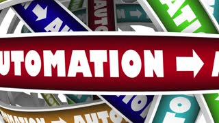 Automation Rpa Process Automated System 3 D Animation