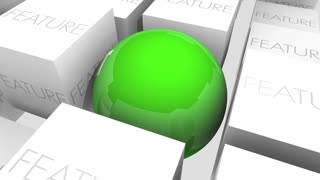 Benefit Vs Feature Advantage Value Sphere In Cubes 3 D Animation