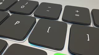 Big Data Computer Keyboard Key Information 3 D Animation