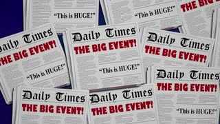 Big Event Announcement Party Conference Newspaper Headlines 34 Animation