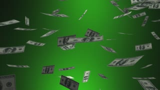 Budget Buster Spending Money Falling Big Expense 3 D Animation