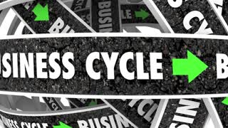 Business Cycle Moving Forward Endless Process Procedure Model 3 D Animation
