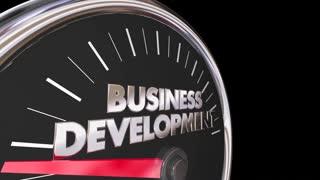 Business Development Speedometer Sales New Customers 3 D Animation