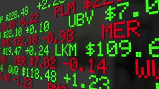 Buy Low Sell High Investment Strategy Stock Market Ticker 3 D Animation
