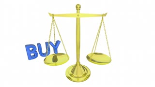 Buy Vs Rent Scale Weighing Options 3 D Animation