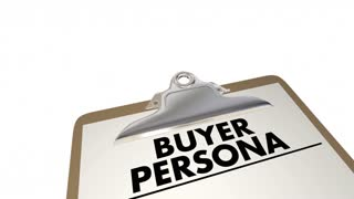 Buyer Persona Clipboard Checklist Customer Profile 3 D Animation