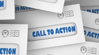 Call To Action Response Act Now Marketing Customers Envelopes 3 D Illustration