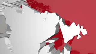 Canada Country Nation Map North America Flag 3 D Animation