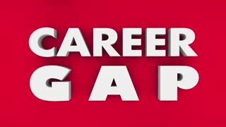 Career Gap Jobs Hole Puzzle Pieces Words 3 D Animation