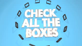 Check All The Boxes Total Complete Compliance 3 D Animation